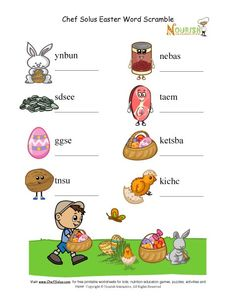It's almost Easter! Here's a fun scramble word activity for the kids to do! (via nourishinteractive.com)