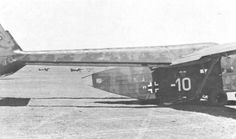 """White Ten"", a Go 242A-1 awaiting takeoff from an airfield in Southern Russia. The Ju 87D aircraft in the background were used as glider tugs for both Go 242 and DFS 230 gliders."