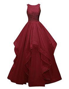 Dresstells® Long Prom Dress Asymmetric Bridesmaid Dress Beaded Organza Gown Burgundy Size 2 Dresstells http://www.amazon.com/dp/B018G5ANYS/ref=cm_sw_r_pi_dp_n0DJwb0RC55GY