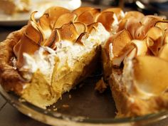 Spiced Heirloom Pumpkin Pie --    Fluffy orange flower meringue adds tang to this nicely spiced take on pumpkin pie.