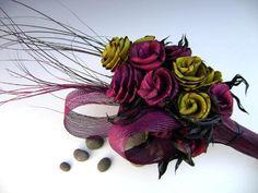 I love this idea,flax flowers!
