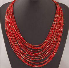 SPX5397 Nueva Moda Bohemia Del Grano Collares collares de moda para las mujeres 2014 collares accesorios de La Joyería Del Cuerpo en Collares de cadena de Joyas y Accesorios en AliExpress.com   Alibaba Group