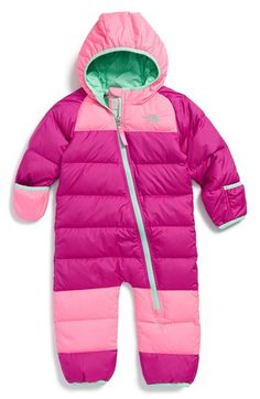 The North Face 'Lil Snuggler' Water Resistant Down Snowsuit (Baby Girls) available at #Nordstrom