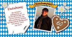Einladungskarte zum Oktoberfest oder Bayrischen Abend  #bavaria #Oktoberfest #Einladungen #Einladungskarten #Geburtstag #ozapftis #Mottogeburtstag