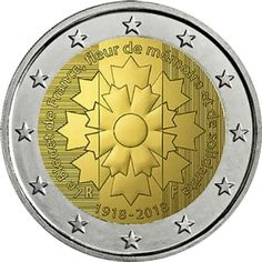 Detailed image and information about 2 euro coin Centenary of the end of World War I from France issued in The coin is part of series Commemorative 2 euro coins. Visit the best collector and commemorative coin website: The Collector Coins. Custom Challenge Coins, Euro Coins, Gold Money, Commemorative Coins, World Coins, Coin Collecting, World War I, Stamp, Photoshop