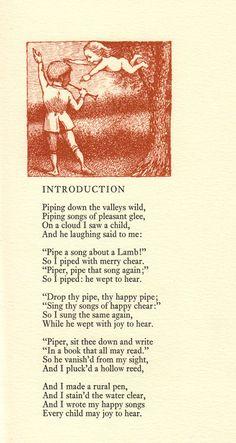 """Maurice Sendak's Rarest Art: His Vintage Illustrations for William Blake's """"Songs of Innocence"""" – Brain Pickings William Blake, Blake Poetry, Songs Of Innocence, Maurice Sendak, Poem A Day, Great Works Of Art, Poetry Books, Vintage Illustrations, Childrens Books"""