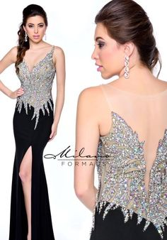 Milano Formals Prom Dresses E1717 at Prom Dress Shop #2015Prom #Dresses #Pretty #Fitted #milanoformals #RedCarpet #Dress #Fashion #Flowy #Elegant