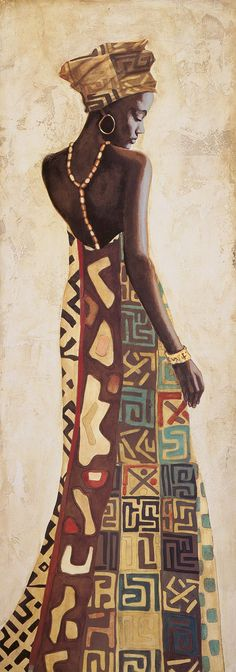 Kunst Bilder ideen - Femme Africaine III by Jacques Leconte - Beste Art Pins Black Girl Art, Black Women Art, Afrique Art, African Art Paintings, Kunst Poster, Black Artwork, Afro Art, African Culture, Female Art