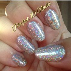 High glitter holographic nails!
