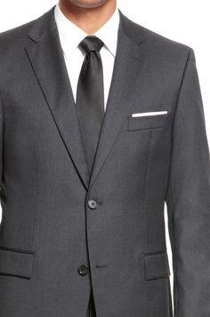 41b4d0841 BOSS 'Pasolini/Movie' | Comfort Fit, Super 110 Virgin Wool Suit Dark