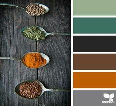 Green orange gray color palette