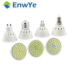 EnwYe E27 E14 MR16 GU10 Lampada LED Bulb 110V 220V Bombillas LED Lamp Spotlight 48 60 80 LED 2835 SMD Lampara Spot cfl
