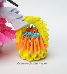 3d Origami Bunny 3d Origami Rabbit Paper por ArtsyHandsCreations