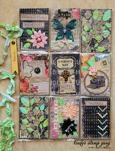 """It's not new, but pocket letters are sure making their way around scrappers' desks lately. I thought I would join the craze. They make for great swaps, and even """"happy mail""""…"""