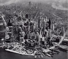 Old Images of New York  1938 NYC aerial