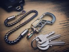 The Veteran / Ti-Bolt Carabiner, Walletchain and Keychain / Green gold aged texture Types Of Lighting, Old Models, Wallet Chain, Green And Gold, Solid Brass, Old Things, Card Holder, Pure Products, Texture