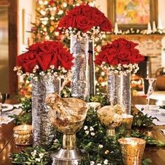Red Rose Winter Wedding Ideas | best stuff but with poinsettia