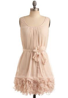 Summer Samba Dress – Pink, Cream, Solid, Bows, Flower, Ruffles, Tiered, Wedding, Party, Casual, A-line, Sleeveless, Tank top (2 thick straps), Spring, Summer, Short