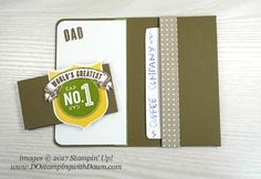 Stampin' Up! Guy Greetings and Badges & Banners stamp sets coffee gift set shared by Dawn Olchefske #dostamping