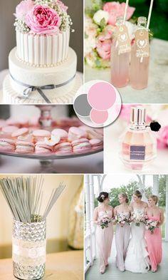 pink and gray inspired pastel wedding color ideas #elegantweddinginvites