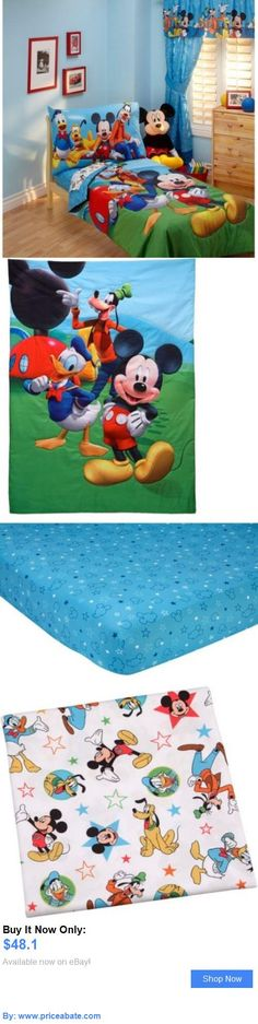 Kids at Home: New Disneys Mickey Mouse Playground Pals 4Pc Toddler Bedroom Bedding Set Bundle BUY IT NOW ONLY: $48.1 #priceabateKidsatHome OR #priceabate