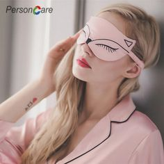Natural Silk Sleep Eye Mask Light Blocking Comfortable Fox Night Mask with Adjustable Strap - Great for Travel, Shift Work, Nap, Blindfold for Sleeping Girls Women & Kids 1 Pack (Pink) Cold Eye Mask, Diy Eye Mask, Sleep Mask, Diy Clothes, Girly Things, Sewing Projects, Kids Crafts, Beauty, Beanie Babies