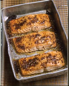 slow baked salmon, really easy
