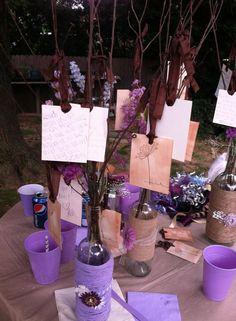 DIY wishing tree wine bottles