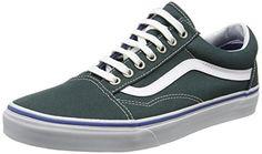 Vans Unisex-Erwachsene Old Skool Sneakers, Grün (Green Gables/True White), 34.5 EU - http://on-line-kaufen.de/vans/34-5-eu-vans-old-skool-unisex-erwachsene-sneakers-18