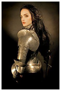 Gorgeous armour photo shoot