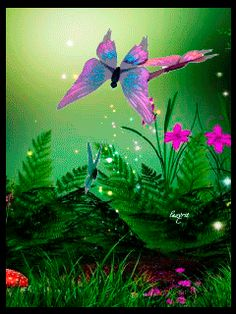 Imagenes Gifs: Mariposas Volando