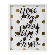Gold You are My Sunshine Shadowbox | Kirklands