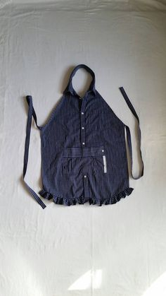 Check out this item in my Etsy shop https://www.etsy.com/listing/277710806/apron-womens-from-mens-shirt-blue-pocket