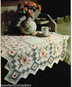 Pattern to Make STUNNING HARDANGER TABLE COVERLET ~ Hardanger PATTERN
