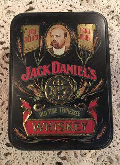 Vintage Jack Daniels Metal Advertising Box / Jack Daniels Tin / Whiskey Tin / Whiskey Box / JD / Advertising Tin / Whiskey