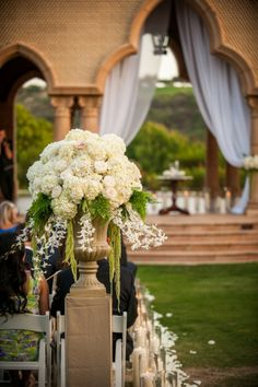 Love this urn from an awesome wedding by The Yes Girls Events!