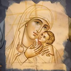 Madonna, Blessed Mother Mary, Byzantine Icons, Holy Family, Orthodox Icons, Disney Characters, Fictional Characters, Aurora Sleeping Beauty, Cartoons
