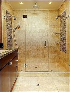love the size of this shower with the glass door