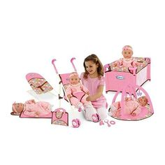 Accessories for Dolls (she has a baby alive doll and a Corolle Baby Doll, as well as a stroller)