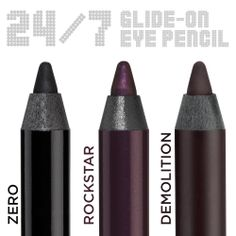 Best eyeliner known to man.Triple Threat Travel Pencil Set by Urban Decay (Official Site) Zero, Rockstar, Demolition Urban Decay Eye Pencil, Urban Decay Eyeliner, Urban Decay Makeup, Beauty Makeup, Eye Makeup, Makeup Stuff, Makeup Ideas, All Things Beauty, Beauty Stuff