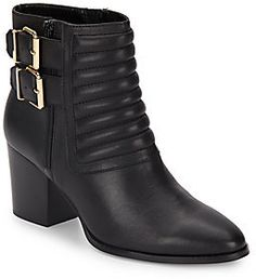 Whitley Leather Quilted Ankle Boots