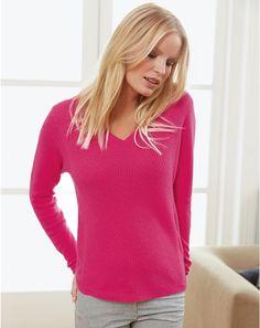 Gassato Cashmere Chevron Rib Sweater