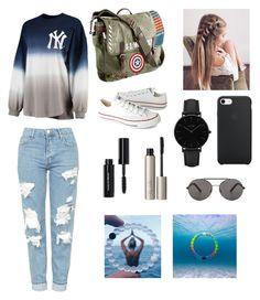 """""""Untitled #15"""" by alissagustinamell on Polyvore featuring Topshop, Converse, Marvel, CLUSE, Ilia, Bobbi Brown Cosmetics and Seafolly"""
