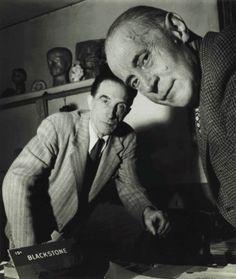 Robert Doisneau (1912–1994) Jacques Villon and Marcel Duchamp, November, 1950   gelatin silver print, printed 1977 signed in ink (margin);