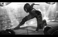 Kunoichi 2093, Stannis Black on ArtStation at https://www.artstation.com/artwork/6LadN