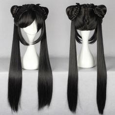 2014 Hot Selling 80cm Long Straight Black Cosplay Wigs Animal Braided wigs-in Cosplay Wigs from Beauty & Health on Aliexpress.com
