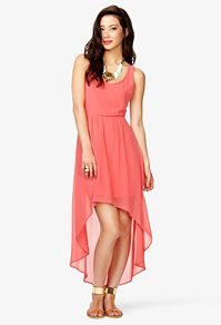 I love this dress! I like how its short in the front and long in the back and I love the color!