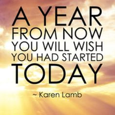please start today