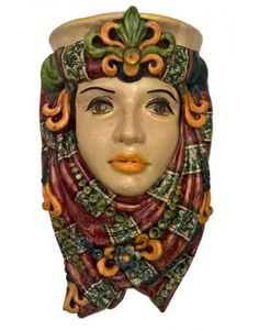 testa di moro da parete ceramiche iudici caltagirone - anthos di violart scicli