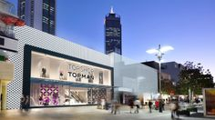 An artist's impression of what the Topshop Topman store will look like when it opens in October 2014. Zara will sit to the right of Topshop.